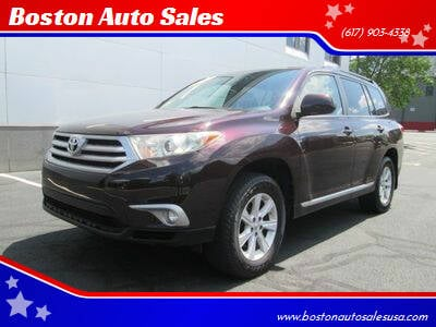 2012 Toyota Highlander for sale at Boston Auto Sales in Brighton MA