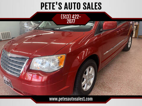 2010 Chrysler Town and Country for sale at PETE'S AUTO SALES LLC - Middletown in Middletown OH