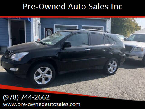 2008 Lexus RX 350 for sale at Pre-Owned Auto Sales Inc in Salem MA