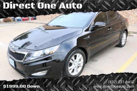 2013 Kia Optima for sale at Direct One Auto in Houston TX