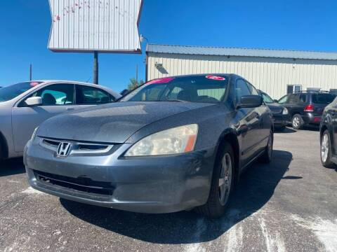 2005 Honda Accord for sale at BELOW BOOK AUTO SALES in Idaho Falls ID