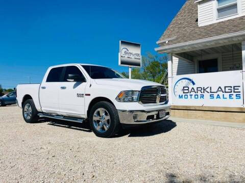 2017 RAM Ram Pickup 1500 for sale at BARKLAGE MOTOR SALES in Eldon MO