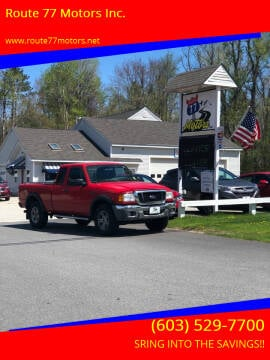 2004 Ford Ranger for sale at Route 77 Motors Inc. in Weare NH