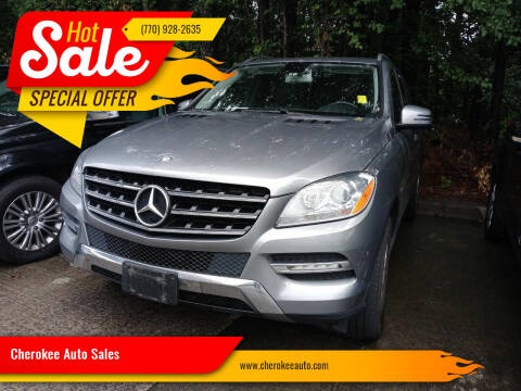 2012 Mercedes-Benz M-Class for sale at Cherokee Auto Sales in Acworth GA