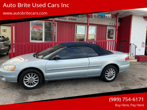 2002 Chrysler Sebring for sale at Auto Brite Used Cars Inc in Saginaw MI