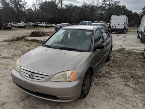 2003 Honda Civic for sale at Ebert Auto Sales in Valdosta GA