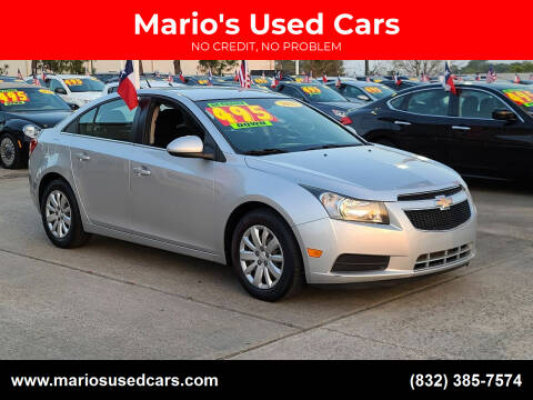 2011 Chevrolet Cruze for sale at Mario's Used Cars in Houston TX