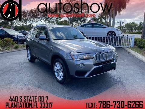 2017 BMW X3 for sale at AUTOSHOW SALES & SERVICE in Plantation FL