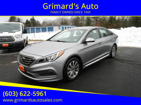 2016 Hyundai Sonata for sale at Grimard's Auto in Hooksett, NH