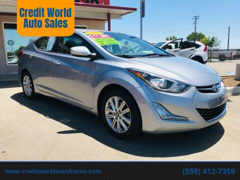 2015 Hyundai Elantra for sale at Credit World Auto Sales in Fresno CA