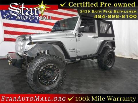2017 Jeep Wrangler for sale at STAR AUTO MALL 512 in Bethlehem PA