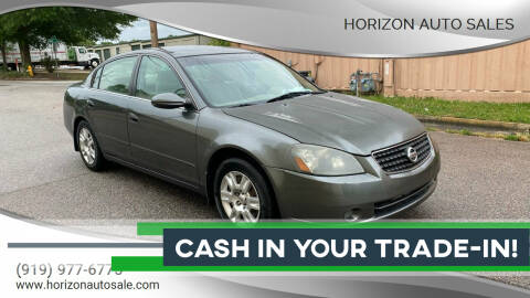 2005 Nissan Altima for sale at Horizon Auto Sales in Raleigh NC