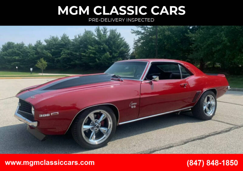 1969 Chevrolet Camaro for sale at MGM CLASSIC CARS-New Arrivals in Addison IL