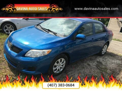 2010 Toyota Corolla for sale at DAVINA AUTO SALES in Orlando FL