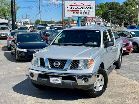 2008 Nissan Frontier for sale at Supreme Auto Sales in Chesapeake VA