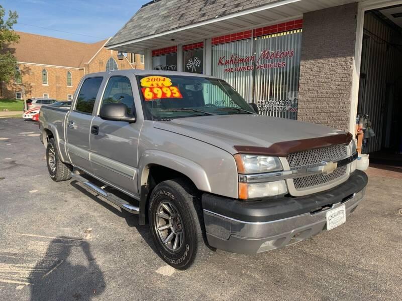 2004 Chevrolet Silverado 1500 for sale at KUHLMAN MOTORS in Maquoketa IA