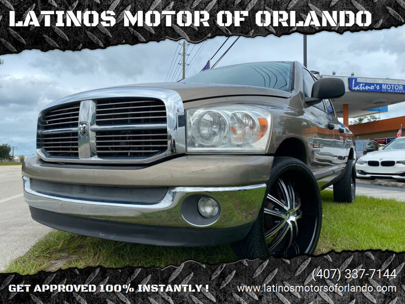 2007 Dodge Ram Pickup 1500 for sale at LATINOS MOTOR OF ORLANDO in Orlando FL
