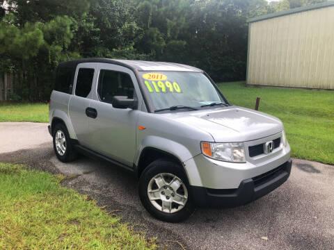 2011 Honda Element for sale at J. MARTIN AUTO in Richmond Hill GA