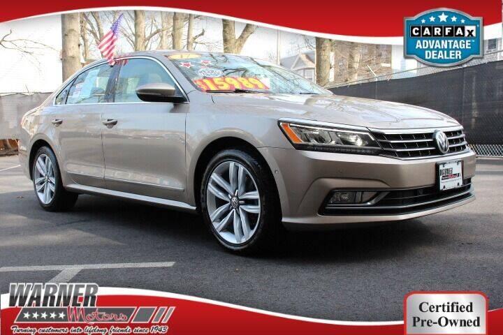 2017 Volkswagen Passat for sale at Warner Motors in East Orange NJ