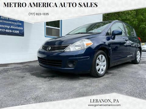 2012 Nissan Versa for sale at METRO AMERICA AUTO SALES of Lebanon in Lebanon PA
