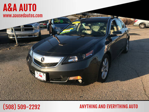 2012 Acura TL for sale at A&A AUTO in Fairhaven MA