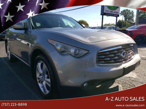 2010 Infiniti FX35 for sale at A-Z Auto Sales in Newport News VA