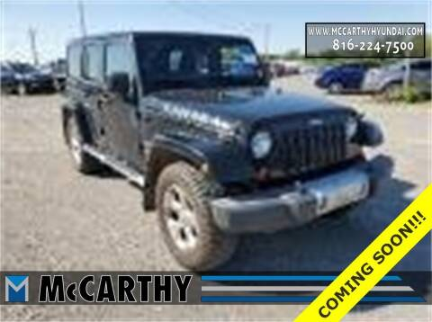 2013 Jeep Wrangler Unlimited for sale at Mr. KC Cars - McCarthy Hyundai in Blue Springs MO