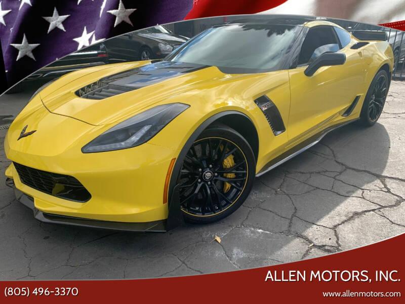 2016 Chevrolet Corvette for sale at Allen Motors, Inc. in Thousand Oaks CA