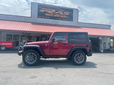 2012 Jeep Wrangler for sale at Ridley Auto Sales, Inc. in White Pine TN
