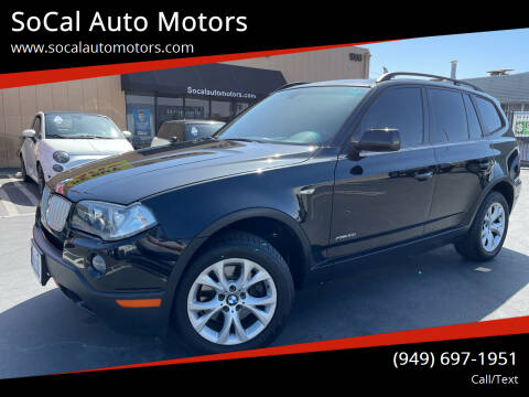 2009 BMW X3 for sale at SoCal Auto Motors in Costa Mesa CA