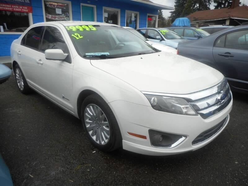 2012 Ford Fusion Hybrid for sale at Lino's Autos Inc in Vancouver WA