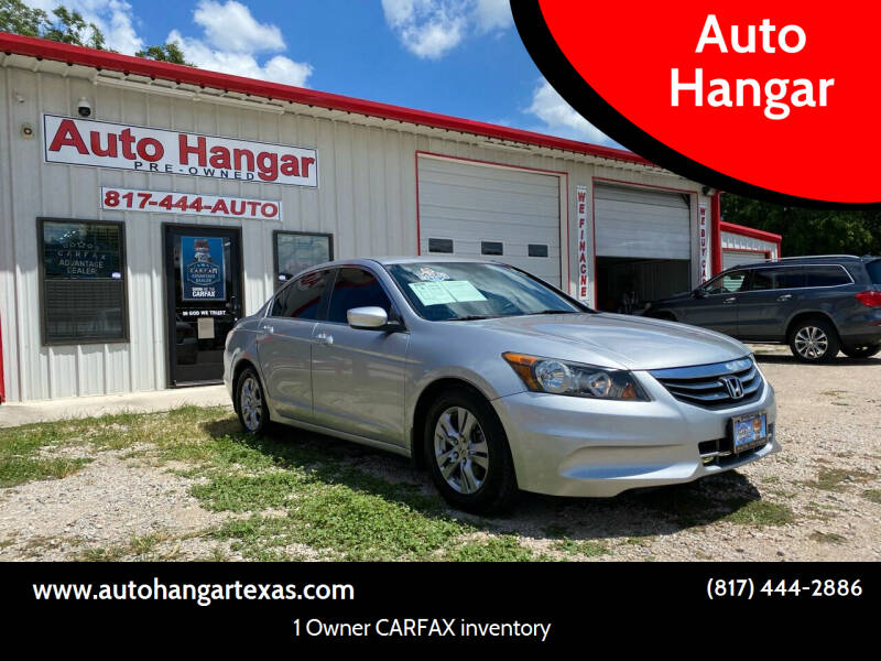 2012 Honda Accord for sale at Auto Hangar in Azle TX