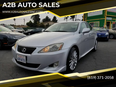 2006 Lexus IS 350 for sale at A2B AUTO SALES in Chula Vista CA