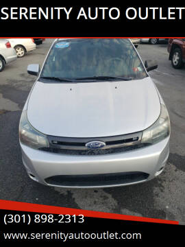 2011 Ford Focus for sale at SERENITY AUTO OUTLET in Frederick MD