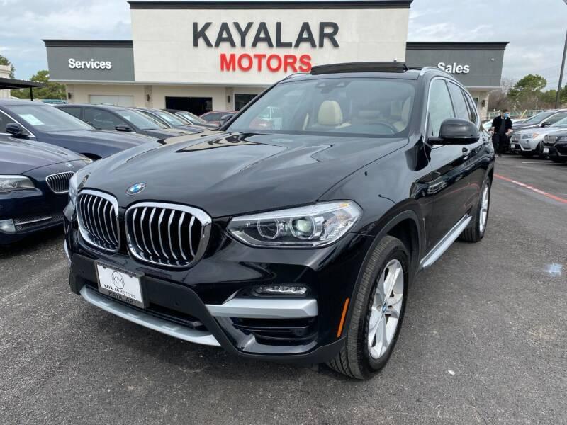 2020 BMW X3 for sale at KAYALAR MOTORS in Houston TX