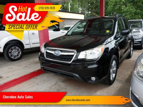 2015 Subaru Forester for sale at Cherokee Auto Sales in Acworth GA