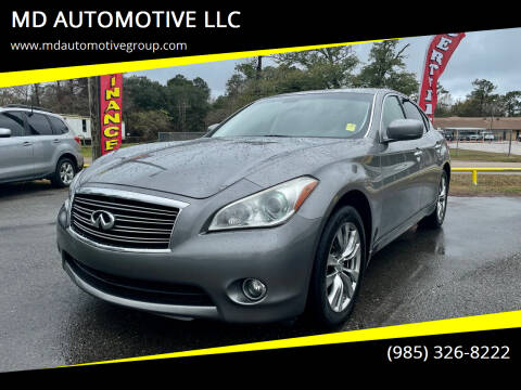 2012 Infiniti M37 for sale at MD AUTOMOTIVE LLC in Slidell LA