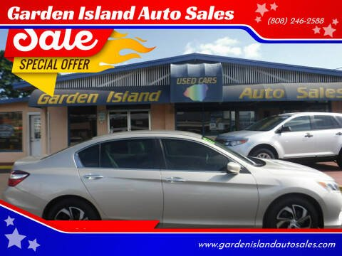 2017 Honda Accord for sale at Garden Island Auto Sales in Lihue HI
