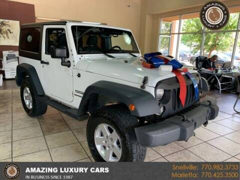 2014 Jeep Wrangler for sale at Amazing Luxury Cars in Snellville GA