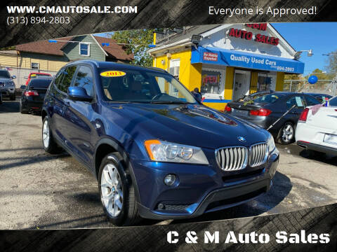 2013 BMW X3 for sale at C & M Auto Sales in Detroit MI
