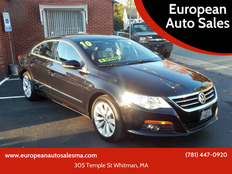 2010 Volkswagen CC for sale at European Auto Sales in Whitman MA