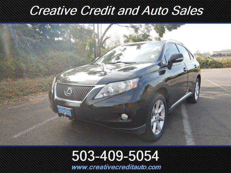 2010 Lexus RX 350 for sale at Creative Credit & Auto Sales in Salem OR
