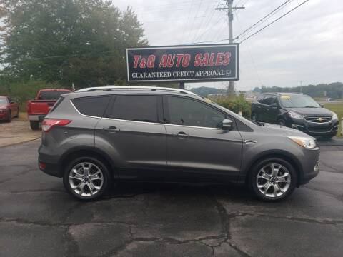 2014 Ford Escape for sale at T & G Auto Sales in Florence AL