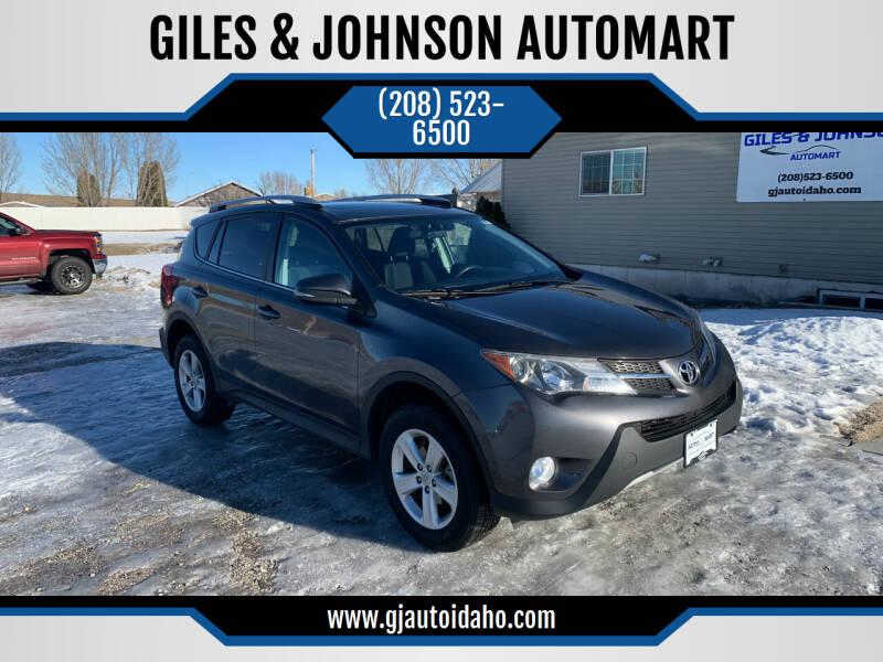 2014 Toyota RAV4 for sale at GILES & JOHNSON AUTOMART in Idaho Falls ID