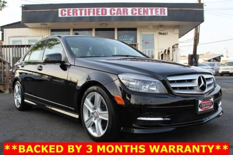 2011 Mercedes-Benz C-Class for sale at CERTIFIED CAR CENTER in Fairfax VA