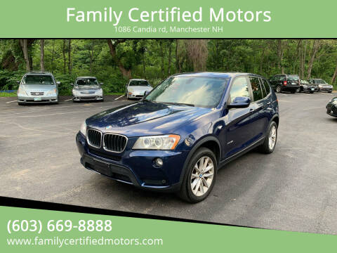 2013 BMW X3 for sale at Family Certified Motors in Manchester NH