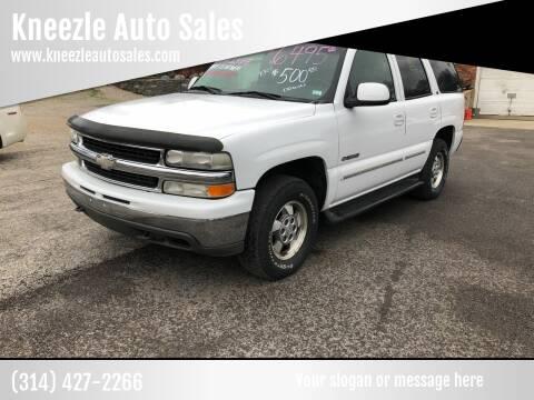 2001 Chevrolet Tahoe for sale at Kneezle Auto Sales in Saint Louis MO