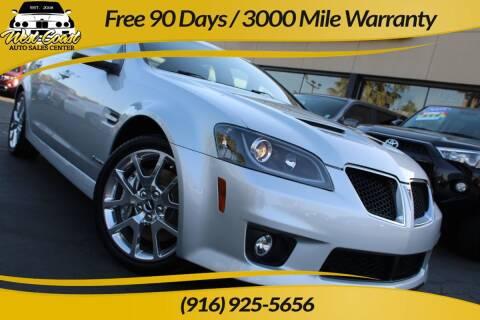 2009 Pontiac G8 for sale at West Coast Auto Sales Center in Sacramento CA
