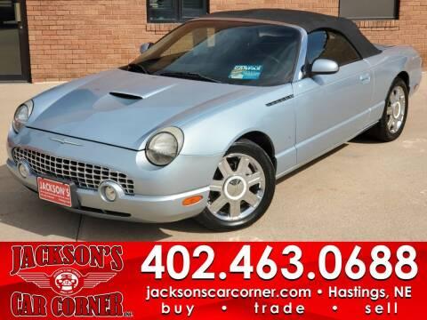 2004 Ford Thunderbird for sale at Jacksons Car Corner Inc in Hastings NE