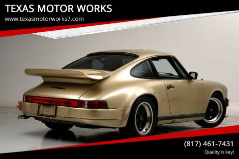 1983 Porsche 911 for sale at TEXAS MOTOR WORKS in Arlington TX